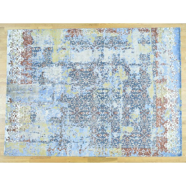One-of-a-Kind Brady Abstract Design Handwoven Wool Area Rug by Isabelline