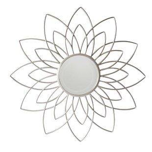 Cheungs Metal Flower Frame Wall Mirror