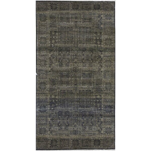 Hand-Knotted Brown Rug