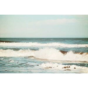 Flowing Sea by Carolyn Cochrane Photographic Print on Wrapped Canvas by Printfinders
