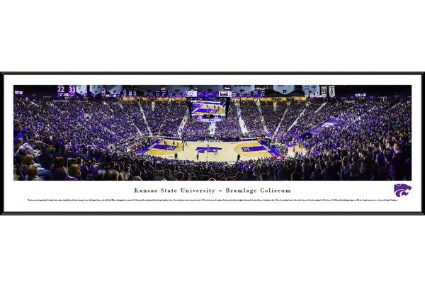 NCAA Kansas State University - Basketball by Christopher Gjevre Framed Photographic Print by Blakeway Worldwide Panoramas, Inc