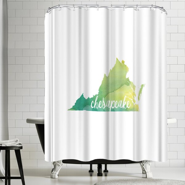 Paperfinch VA Chesapeake Shower Curtain by East Urban Home