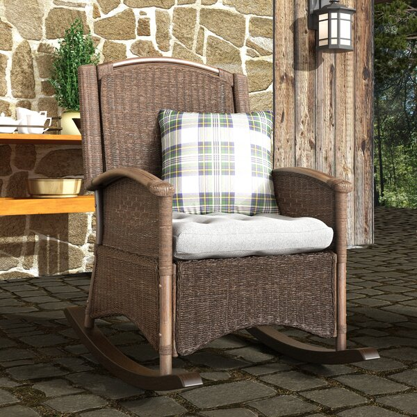 Salters Rocking Chair With Cushion By Loon Peak