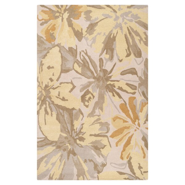 Millwood Beige/Gold Area Rug by Charlton Home