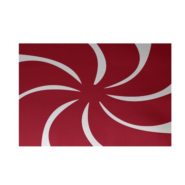 Decorative Holiday Geometric Print Red Indoor/Outd