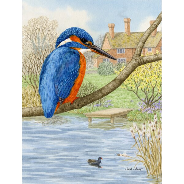 Kingfisher Vertical Flag by Caroline's Treasures
