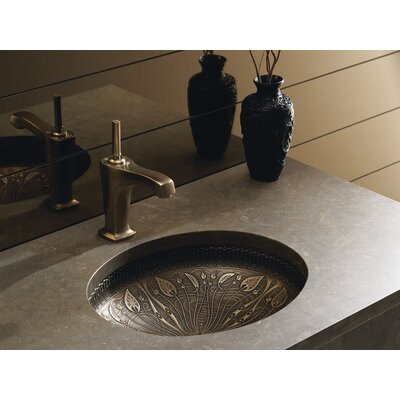 artist editions lilies lore oval undermount bathroom sink