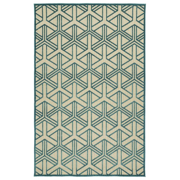 Alterson Blue Indoor/Outdoor Area Rug by Langley Street