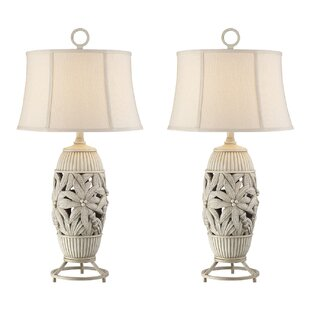 Where buy  Rice Palm Tree 32 Table Lamp (Set of 2) By Bay Isle Home