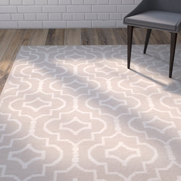 Rennie Hand-Woven Gray/Ivory Area Rug by Wrought Studio