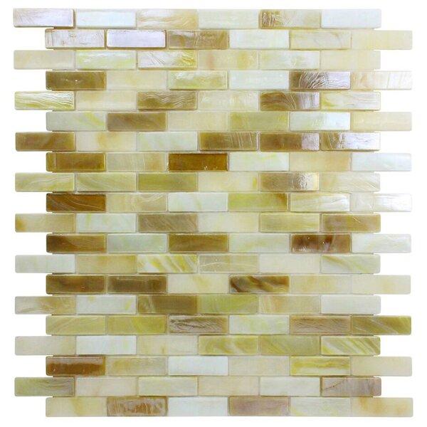 Opal 0.63 x 1.88 Glass Mosaic Tile in Crème Brulee by Kellani