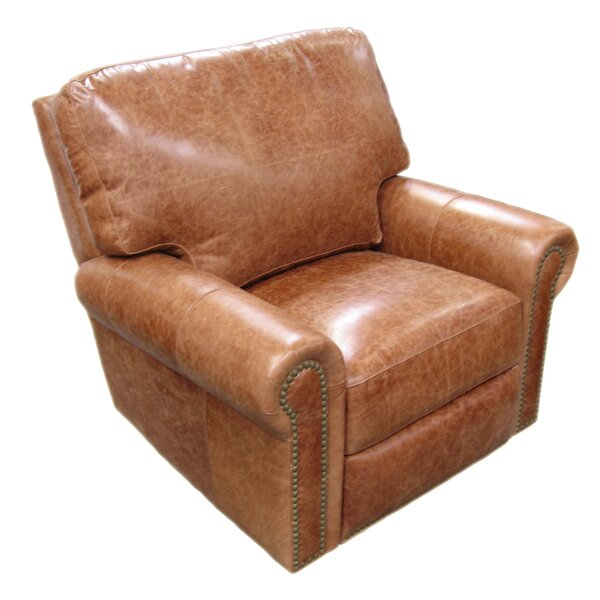 Fairfield Leather Swivel Glider Recliner by Omnia Leather Omnia Leather
