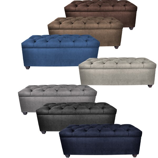 Heaney Upholstered Storage Bench by Alcott Hill