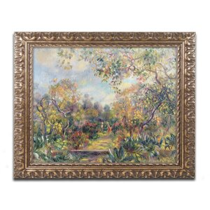 Landscape at Beaulieu by Pierre Renoir Framed Painting Print by Trademark Fine Art