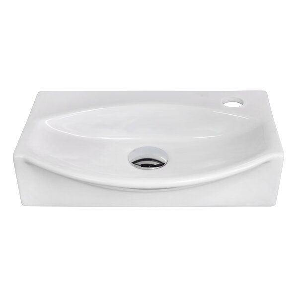 Specialty Ceramic 17 Wall Mount Bathroom Sink by American Imaginations