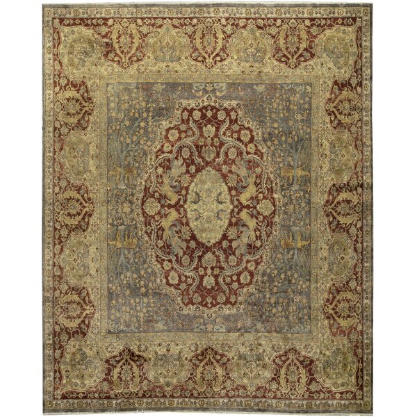 One-of-a-Kind Sona Hand-Knotted Red/Beige 11'7 x 14' Wool Area Rug
