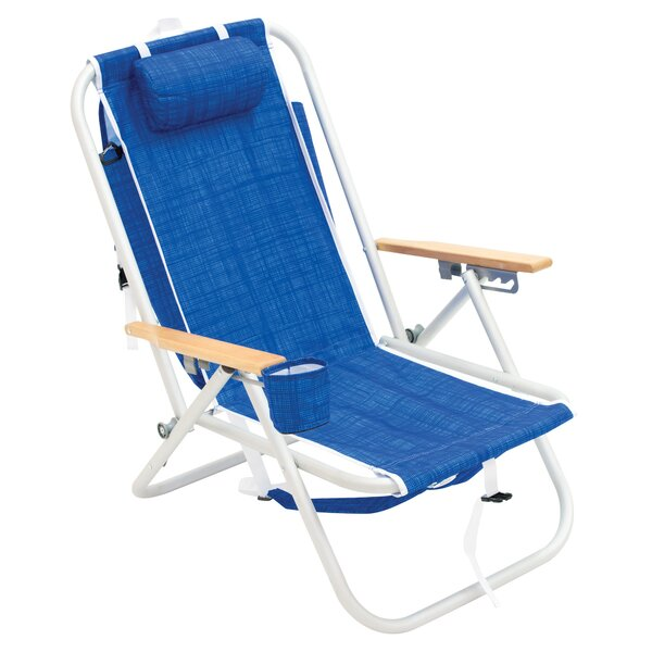 Boxford 4-Position Aluminum Backpack Reclining Beach Chair By Freeport Park