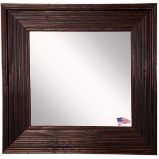 World Menagerie Square Brown Wall Mirror