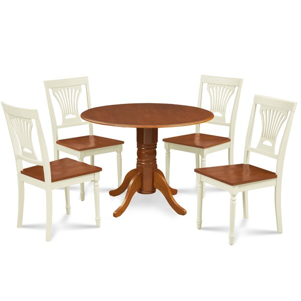 Remy 5 Piece Drop Leaf Solid Wood Dining Set by Millwood Pines Millwood Pines