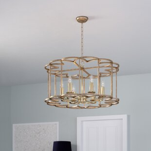 Read Reviews Delana 6-Light Bronze Fusion Drum Chandelier By Rosdorf Park