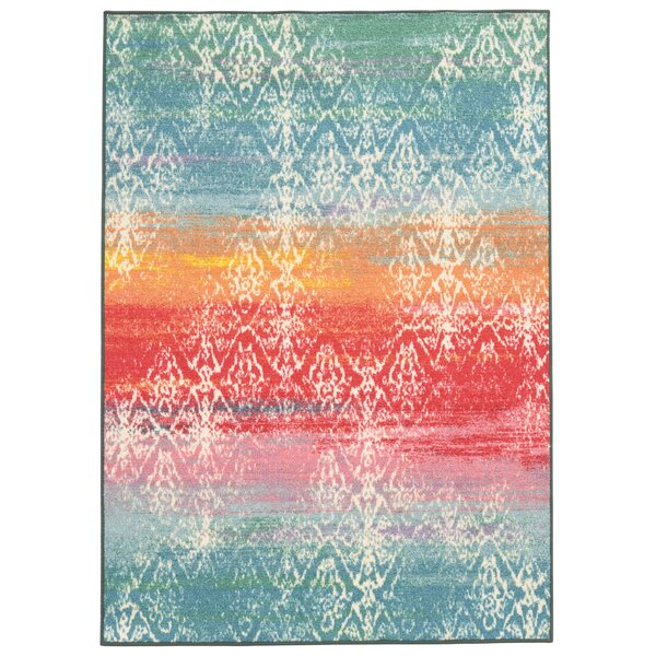 Silva Blue Area Rug by Bungalow Rose