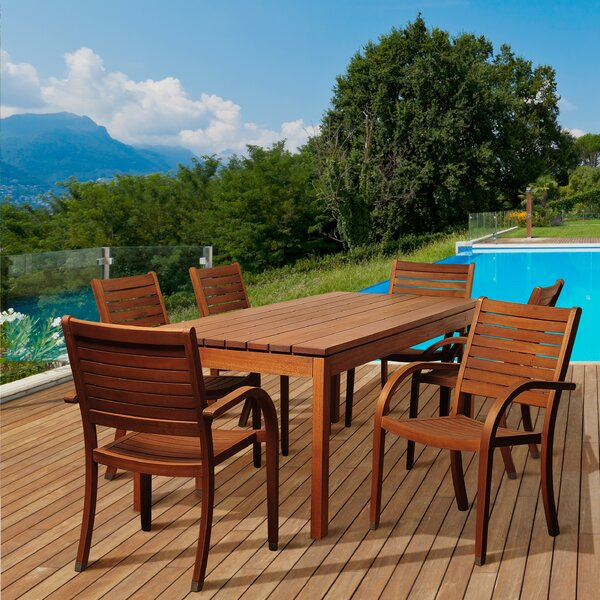 Catalina 7 Piece Wood Dining Set by Rosecliff Heights