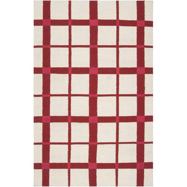 Happy Cottage Red/Ivory Area Rug by Country Living™ by Surya