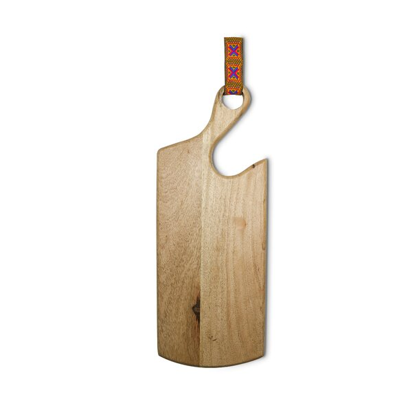 Emmaus Wood Hook Cheese Board and Platter by World Menagerie