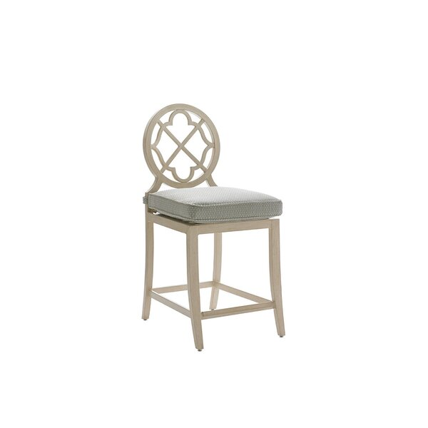 Misty Garden 25.5 Patio Bar Stool with Cushion by Tommy Bahama Outdoor