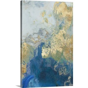 'Ocean Splash II' by PI Galerie Painting Print on Canvas by Great Big Canvas
