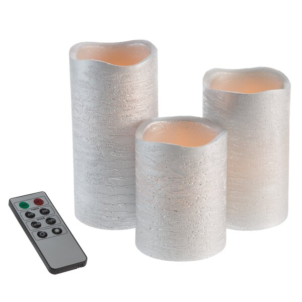 3 Piece Flameless Candle Set by House of Hampton