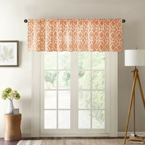 lippert print curtain valance grey