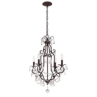 Affordable Birrell 4-Light Candle Style Chandelier By Rosdorf Park
