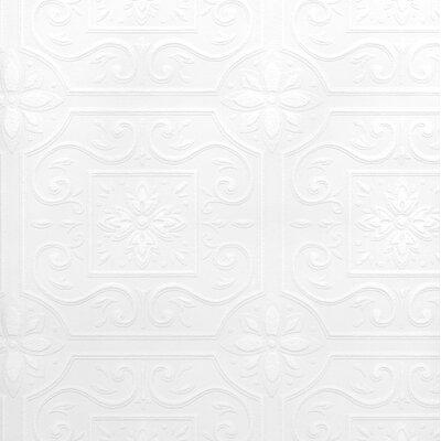 "Francina Paintable Tile 33' L x 20.5"" W Wallpaper Roll House of Hampton"
