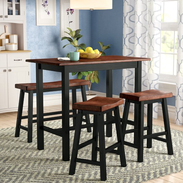 Winsted 4 Piece Counter Height Dining Set by Red Barrel Studio Red Barrel Studio