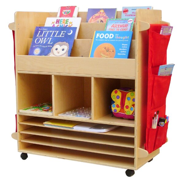 Big 3 Compartment Book Display with Bins by A+ Child Supply