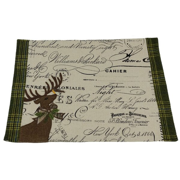 Reindeer with Applique Suede Placemat by Xia Home Fashions