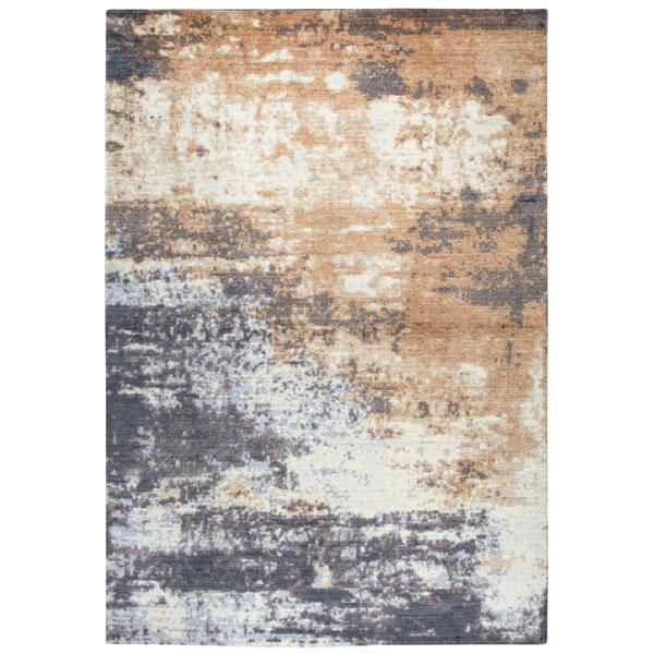 Pettway Power Loom Wool Gray/Brown Rug