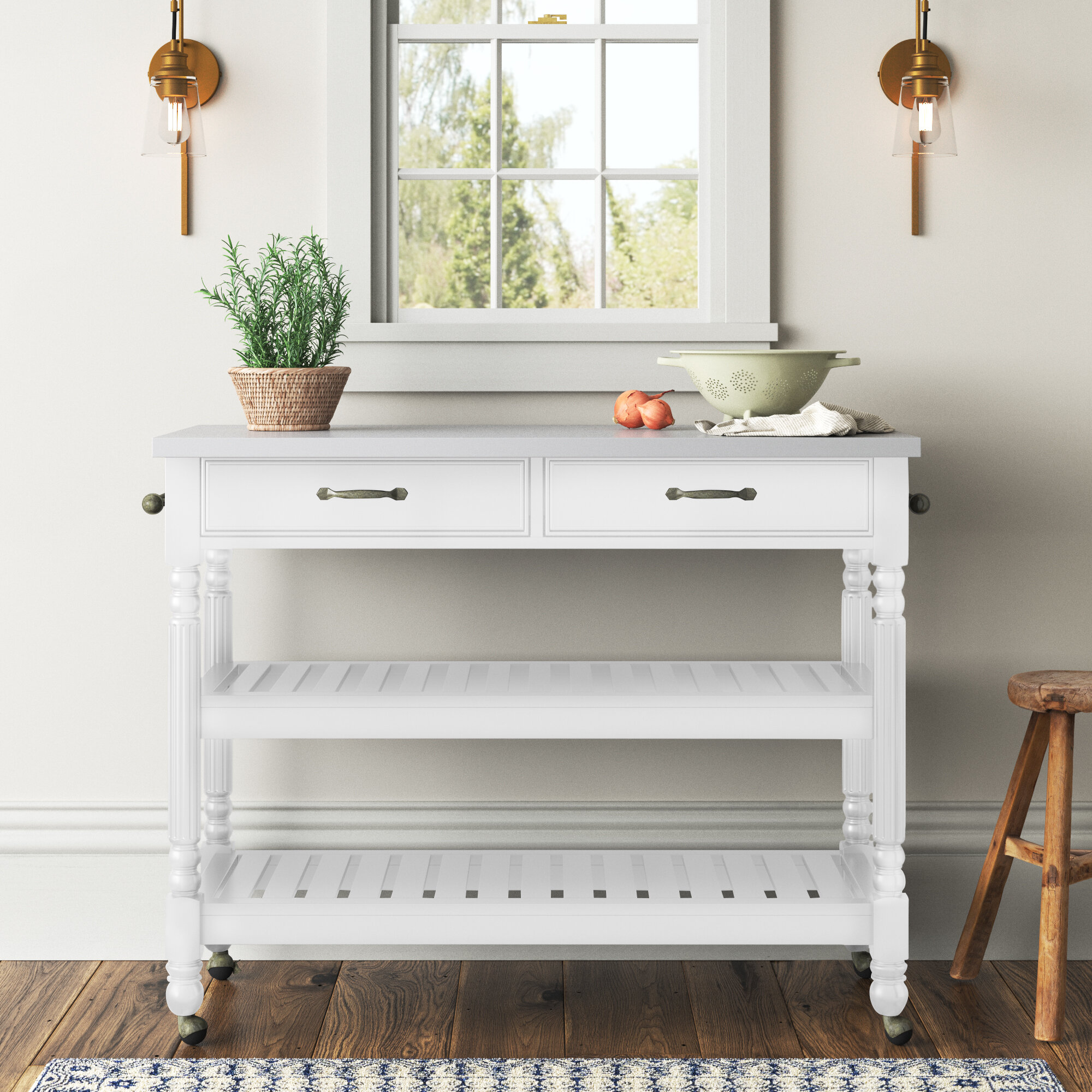 Stainless Steel White Kitchen Islands Carts You Ll Love In 2021 Wayfair