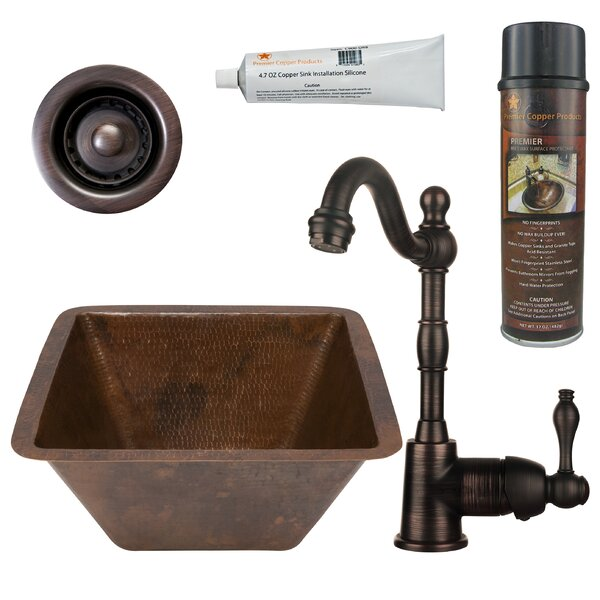 15 L x 15 W  Bar Sink with Faucet by Premier Copper Products