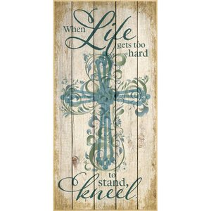 When Life Gets Too Hard… Graphic Art Plaque by Dexsa