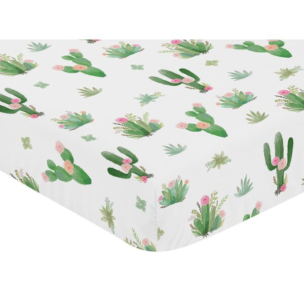 Cactus Floral Fitted Crib Sheet by Sweet Jojo Designs