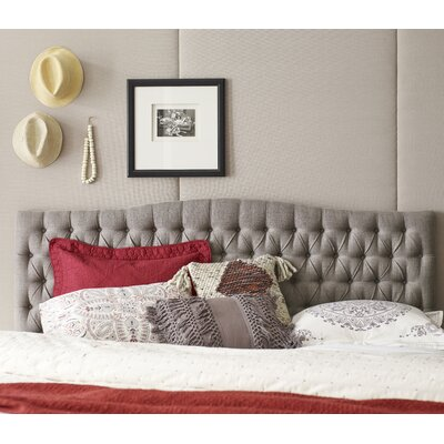 Panel Headboard Queen Light Brown pic