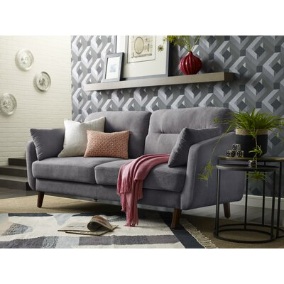 Elle Decor Loveseat Dark Gray Sofas