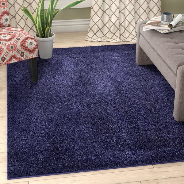 Bonnell Navy Blue Area Rug by Zipcode Design