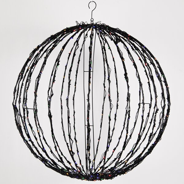 Fold-Flat LED Christmas Ball Net Lighting with Hook by The Holiday Aisle