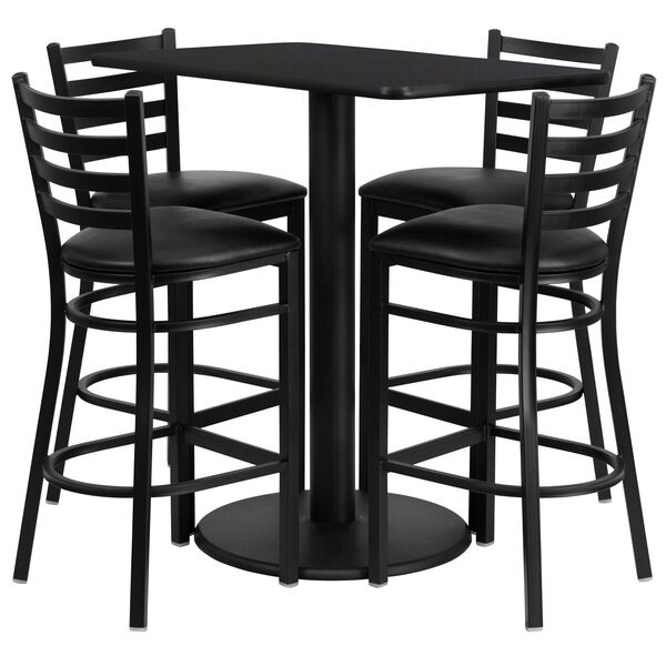 Deloris 5 Piece Pub Table Set by Latitude Run