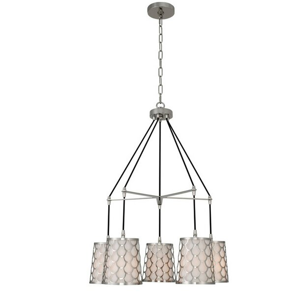 Bahamas 5 - Light Shaded Wagon Wheel Chandelier by Orren Ellis Orren Ellis