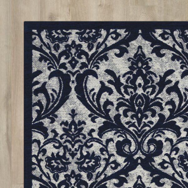Portleven Navy Area Rug by Charlton Home