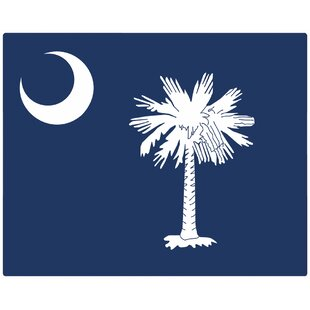 South Carolina Flag 12x15 Non-Slip Flexible Cutting Board By Magic Slice